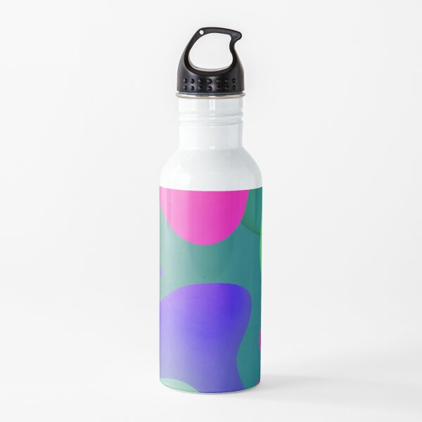 Very Cool, Super Awesome and kind of Pretty Amazing Colorful Abstract Pattern Water Bottle