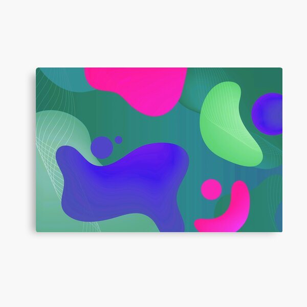 Very Cool, Super Awesome and kind of Pretty Amazing Colorful Abstract Pattern Canvas Print