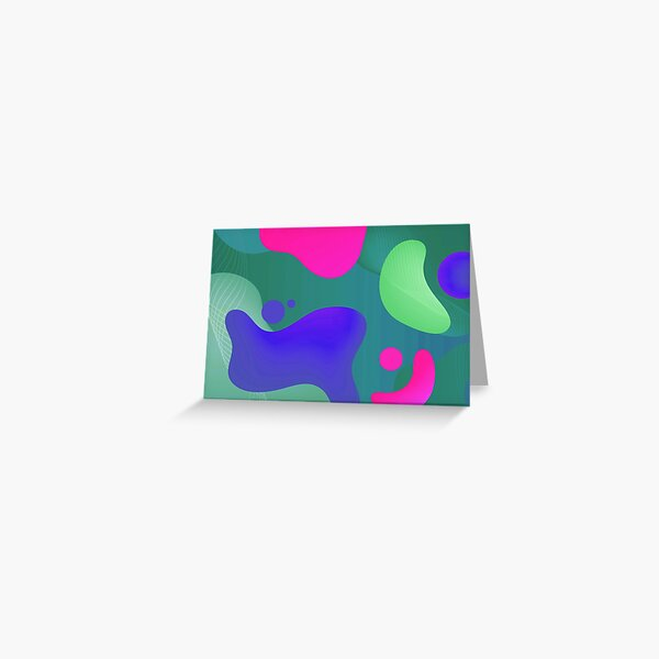 Very Cool, Super Awesome and kind of Pretty Amazing Colorful Abstract Pattern Greeting Card