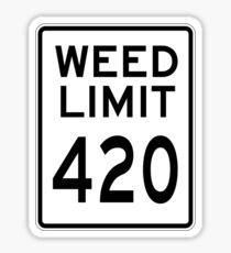 Weed Limit 420 Sticker