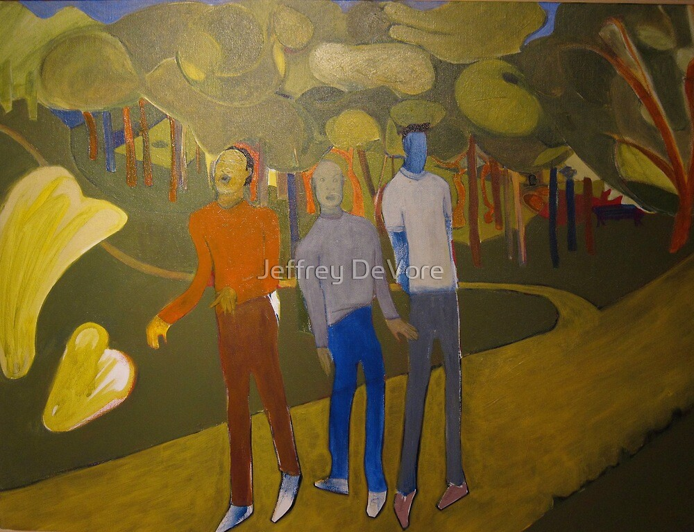 Three Friends At the Park by Jeffrey DeVore