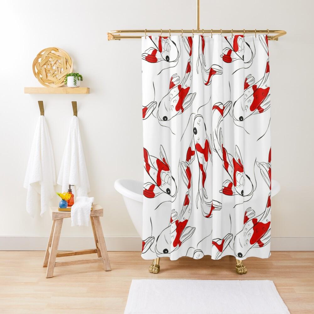 Koi red fish Shower Curtain