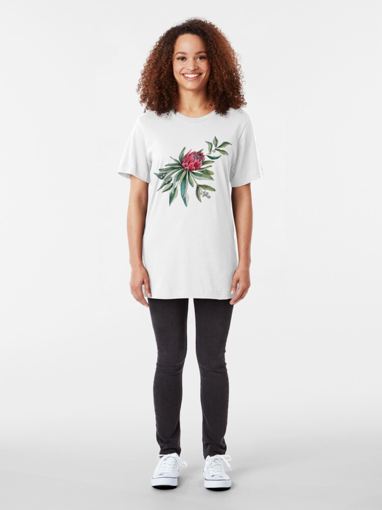 Alternate view of Protea watercolor Slim Fit T-Shirt