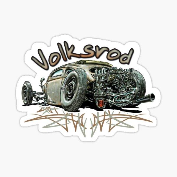 Volksrod dessin Sticker