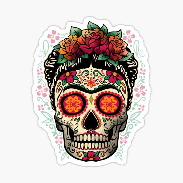 Frida calavera Pegatina