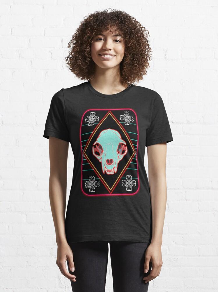 T-shirt essentiel ''Synthwave Cat': autre vue