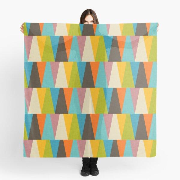Retro Color Block Triangle Color Happy Scarf