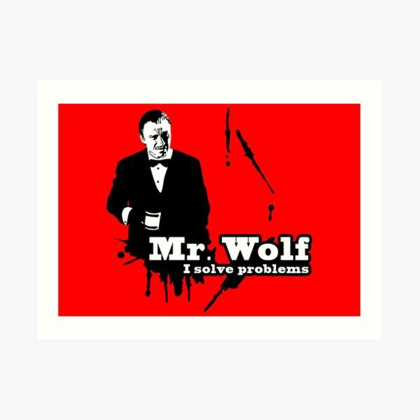 Mr. Wolf Art Print