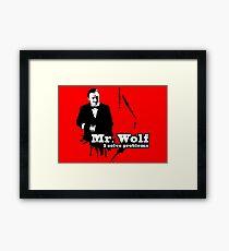 Mr. Wolf Framed Print