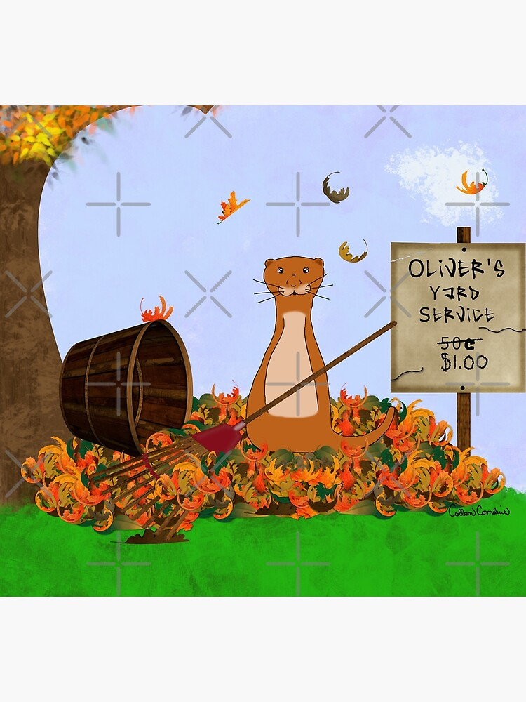 Oliver's Yard Service -Autumn by ButterflysAttic