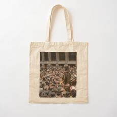 British Suffragette Emmeline Pankhurst addressing crowd on Wall Street, New York in 1911 Cotton Tote Bag