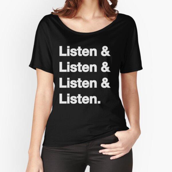 Listen & Listen & Listen & Listen T-shirt coupe relax