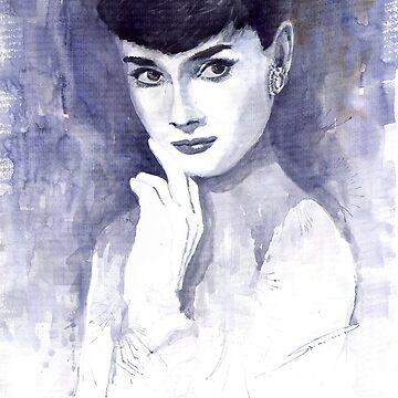 Audrey Hepburn  by shevchukart