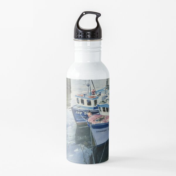 Boats at Pittenweem Harbour Water Bottle