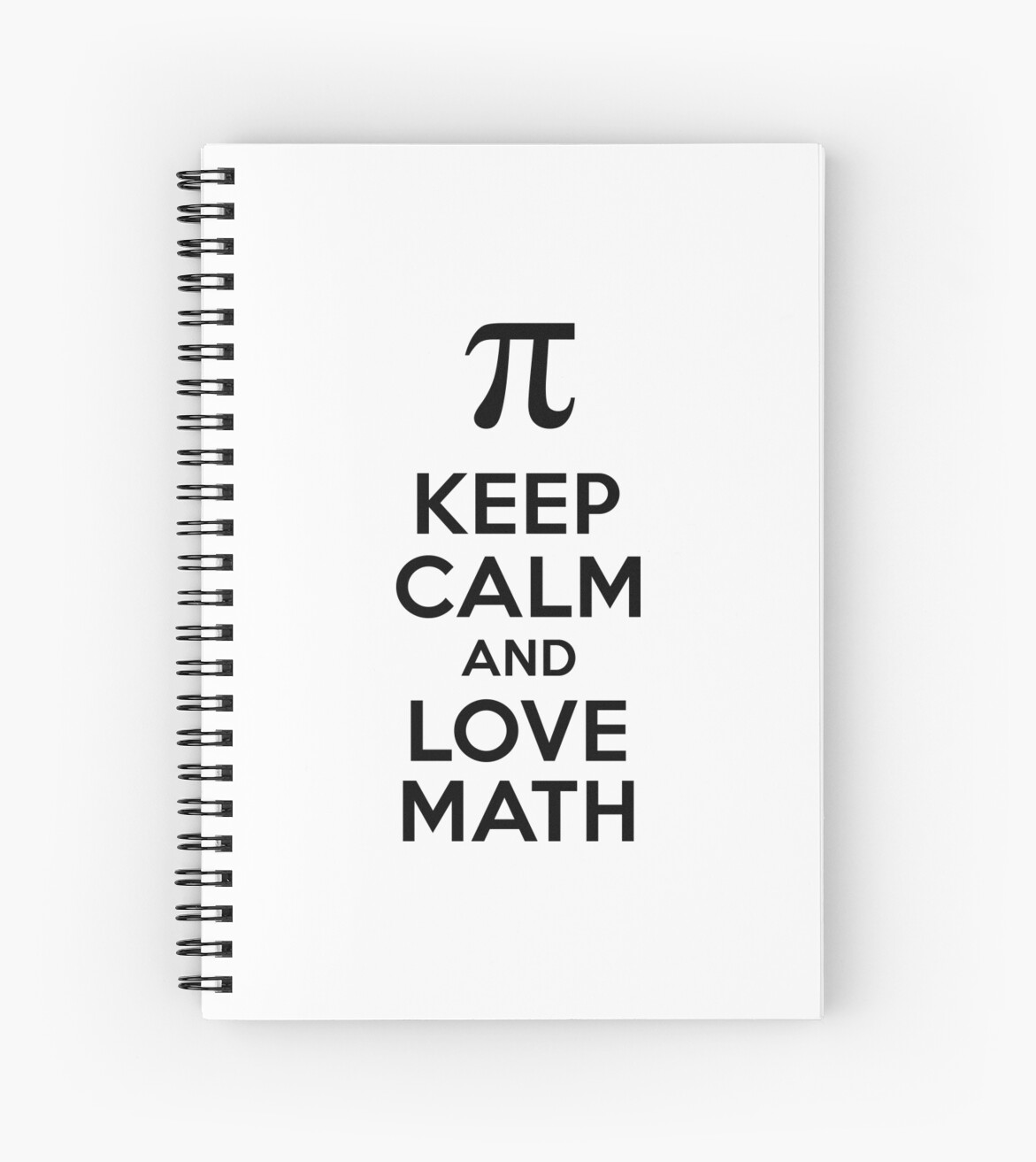 """keep calm and love math"""" spiral notebooks by almirah 