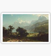 Lake Lucerne - Albert Bierstadt Sticker