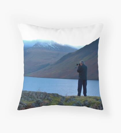 Shooting the Water at Wastwater Throw Pillow
