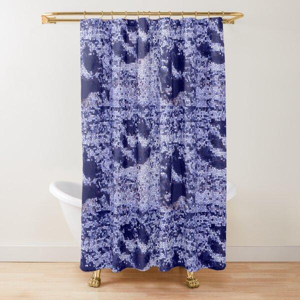 Mosaic Paw Prints Shower Curtain