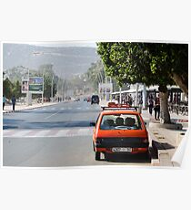 Moroccan taxi Poster