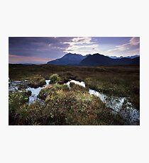 Mountains, Marshes, Heather, Scotland! Photographic Print