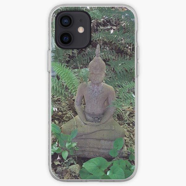 Buddah in the garden iPhone Soft Case