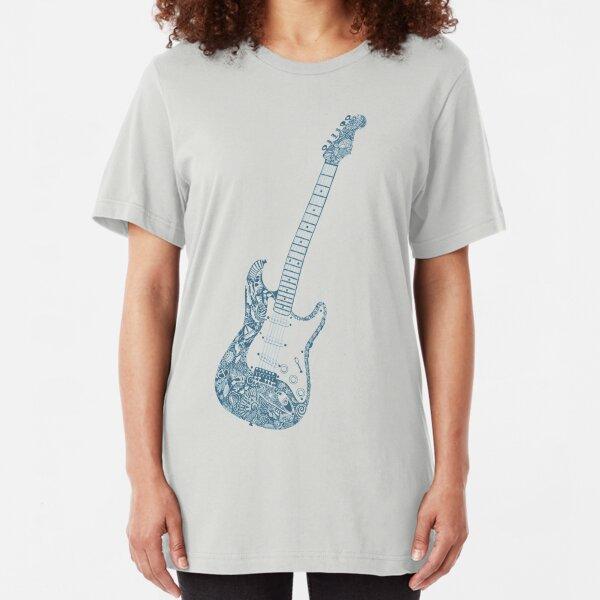 Stratocaster Guitar Shirt Slim Fit T-Shirt