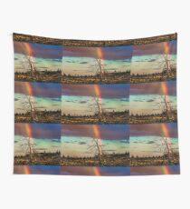 Rainbows-n-old Juniper Wall Tapestry