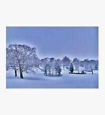 Frozen At Day Break ~ Peel Park ~ Photographic Print