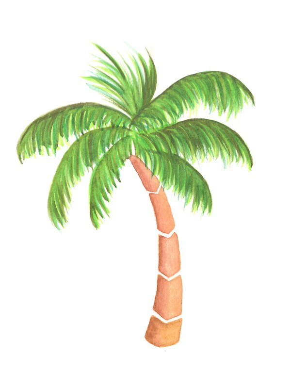 Tropical palm tree watercolor stickers by chargingrhinos tropical palm tree watercolor by chargingrhinos voltagebd Images