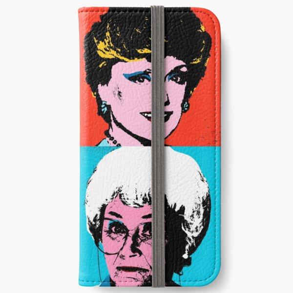 Golden Warhol Girls iPhone Wallet