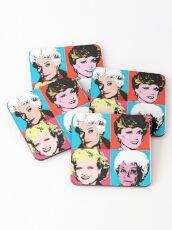 Golden Warhol Girls Coasters