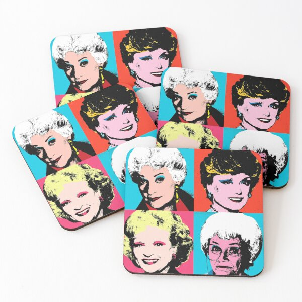Golden Warhol Girls Coasters (Set of 4)