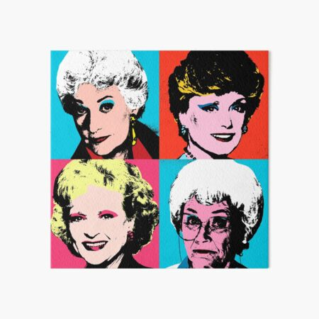 Golden Warhol Girls Art Board Print