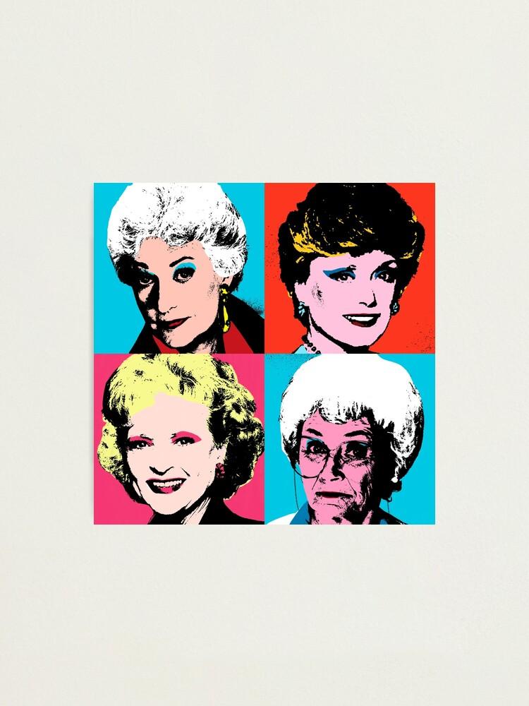 Alternate view of Golden Warhol Girls Photographic Print