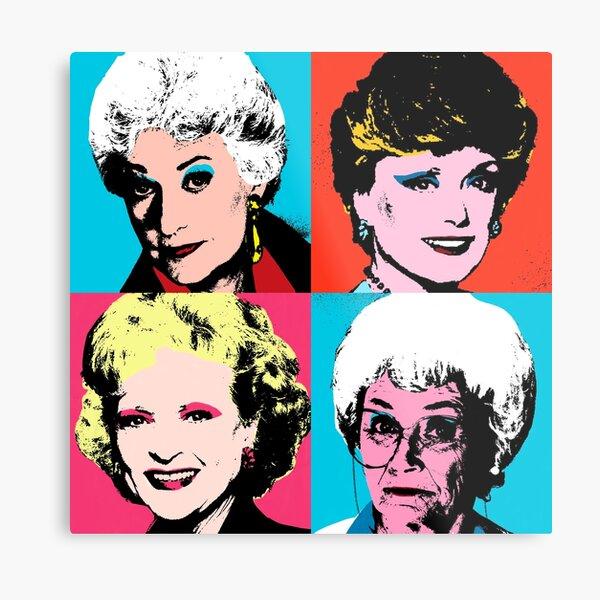 Golden Warhol Girls Metal Print