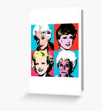 Golden Warhol Girls Greeting Card