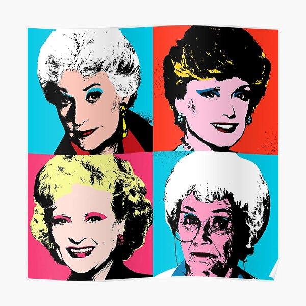 Golden Warhol Girls Poster