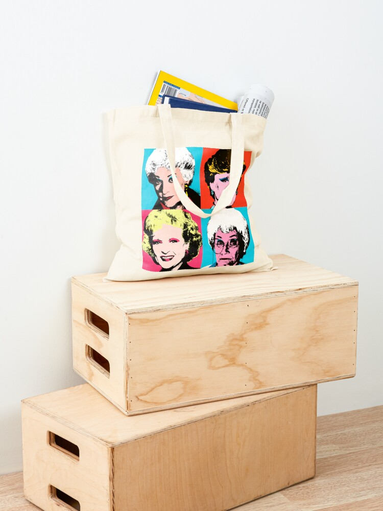 Alternate view of Golden Warhol Girls Tote Bag