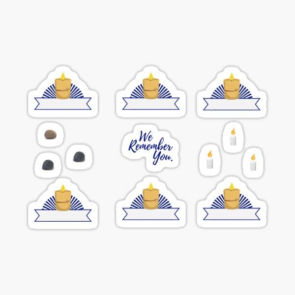 Jewish Planner Stickers: Yahrzeit Candles Sticker