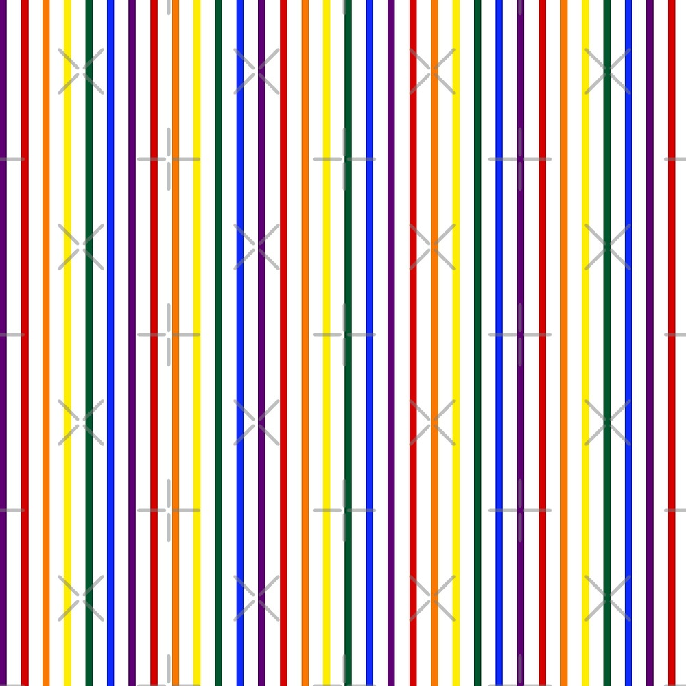 Simple Pride Vertical Stripes by technoqueer