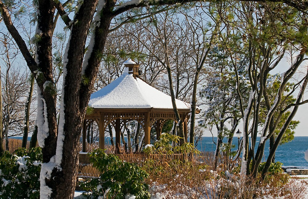 Winter Gazebo by Monica M. Scanlan