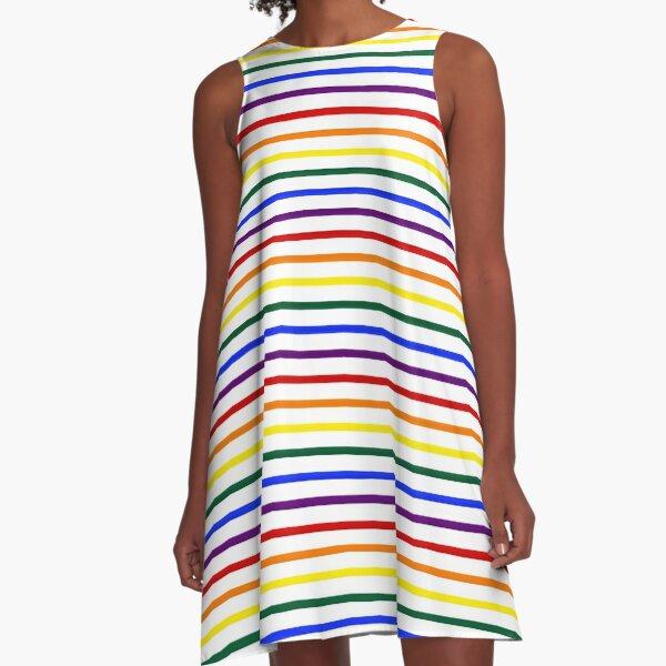Simple Pride Stripes A-Line Dress