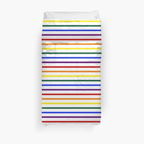 Simple Pride Stripes Duvet Cover