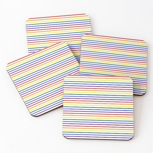 Simple Pride Stripes Coasters (Set of 4)