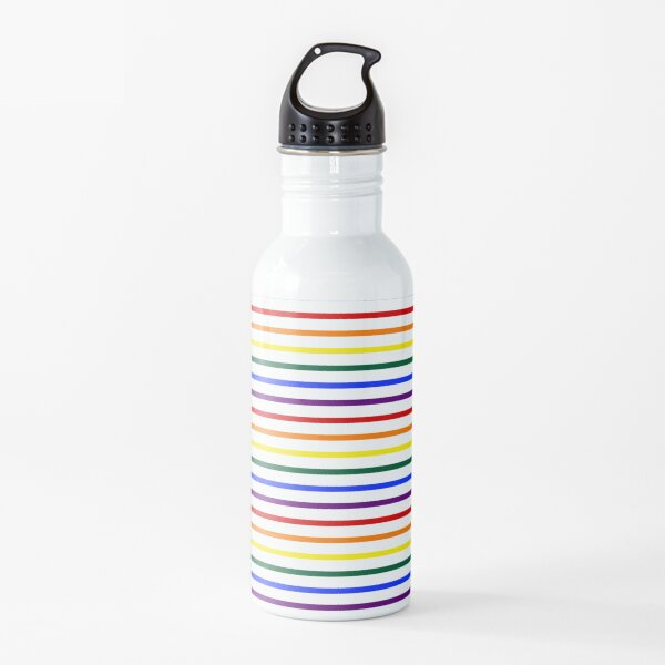 Simple Pride Stripes Water Bottle