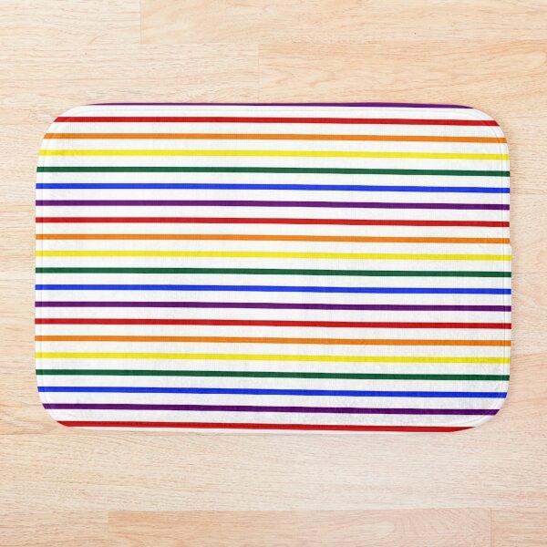 Simple Pride Stripes Bath Mat