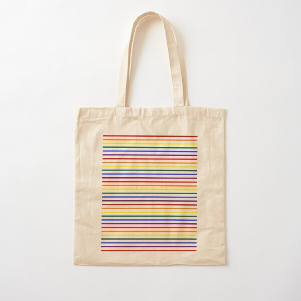 Simple Pride Stripes Cotton Tote Bag