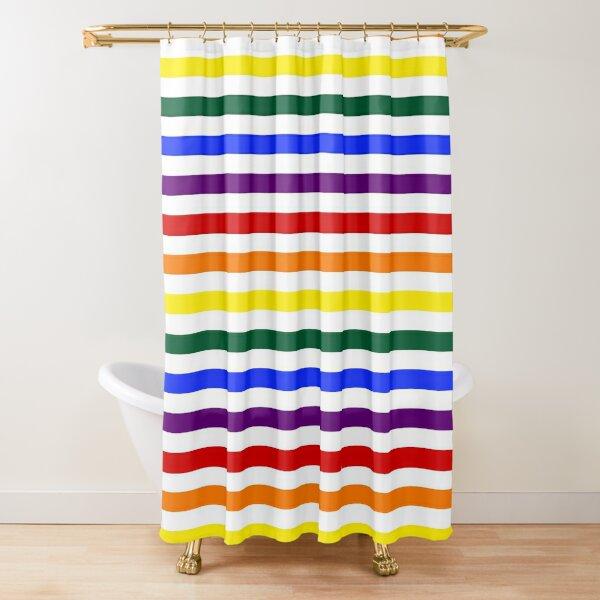 Wide Pride Stripes Shower Curtain