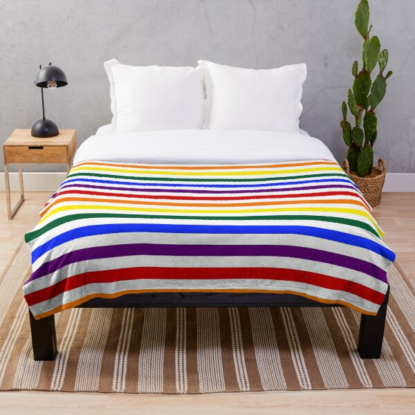 Wide Pride Stripes Throw Blanket