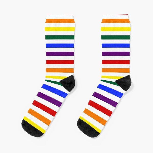 Wide Pride Stripes Socks